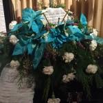 Turquoise Poinsettia Spray