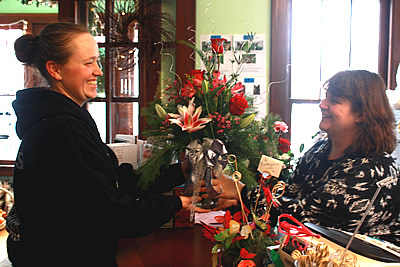 Happy Customer at Uptown Florist